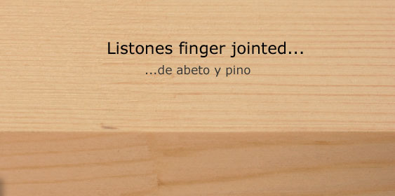 Listones finger jointed de abeto y pino  Holz Pichler SpA
